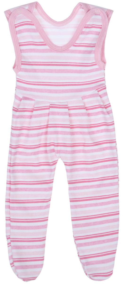 Ползунки с грудкой для девочки Трон-плюс, цвет: белый, розовый. 5211_ОЗ14_полоски 2. Размер 68, 6 месяцев5211_ОЗ14_полоски 2Ползунки с грудкой для девочки Трон-плюс - очень удобный и практичный вид одежды для малышей. Они отлично сочетаются с футболками и кофточками, подходят для ношения с подгузником и без него. Ползунки выполнены из натурального хлопка, благодаря чему они очень мягкие и приятные на ощупь, не раздражают нежную кожу ребенка и хорошо вентилируются, обеспечивая комфорт. Ползунки с закрытыми ножками (след отрезной) застегиваются сверху на две кнопки, что помогает с легкостью переодеть малышку. Спереди модели заложены небольшие складки. Изделие оформлено принтом в полоску.Ползунки полностью соответствуют особенностям жизни младенца в ранний период, не стесняя и не ограничивая его в движениях.