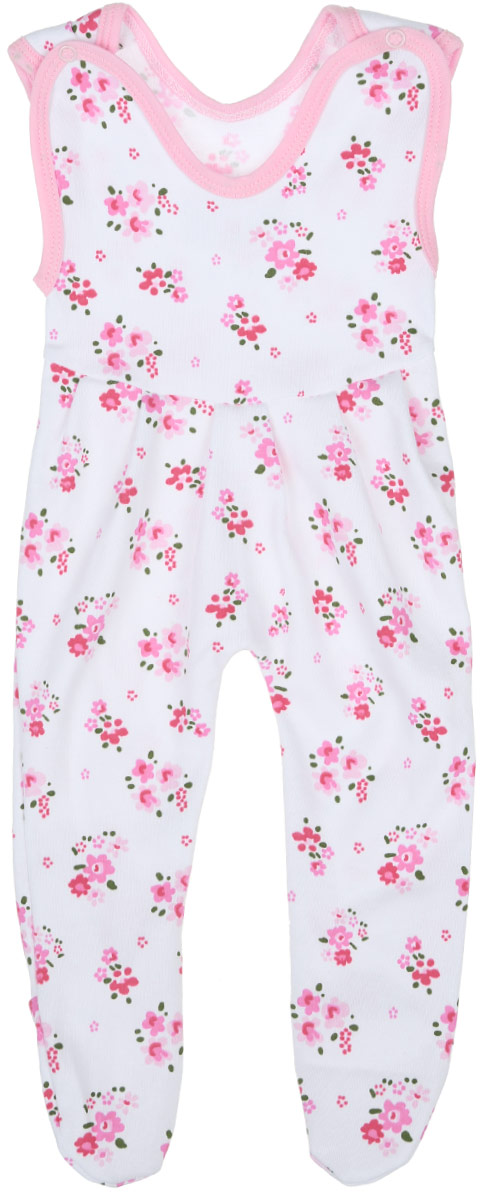 Ползунки с грудкой для девочки Трон-плюс, цвет: белый, розовый, зеленый. 5211_ОЗ14_цветы. Размер 80, 12 месяцев5211_ОЗ14_цветыПолзунки с грудкой для девочки Трон-плюс - очень удобный и практичный вид одежды для малышей. Они отлично сочетаются с футболками и кофточками, подходят для ношения с подгузником и без него. Ползунки выполнены из натурального хлопка, благодаря чему они очень мягкие и приятные на ощупь, не раздражают нежную кожу ребенка и хорошо вентилируются, обеспечивая комфорт. Ползунки с закрытыми ножками (след отрезной) застегиваются сверху на две кнопки, что помогает с легкостью переодеть малышку. Спереди модели заложены небольшие складки. Изделие оформлено цветочным принтом.Ползунки полностью соответствуют особенностям жизни младенца в ранний период, не стесняя и не ограничивая его в движениях.