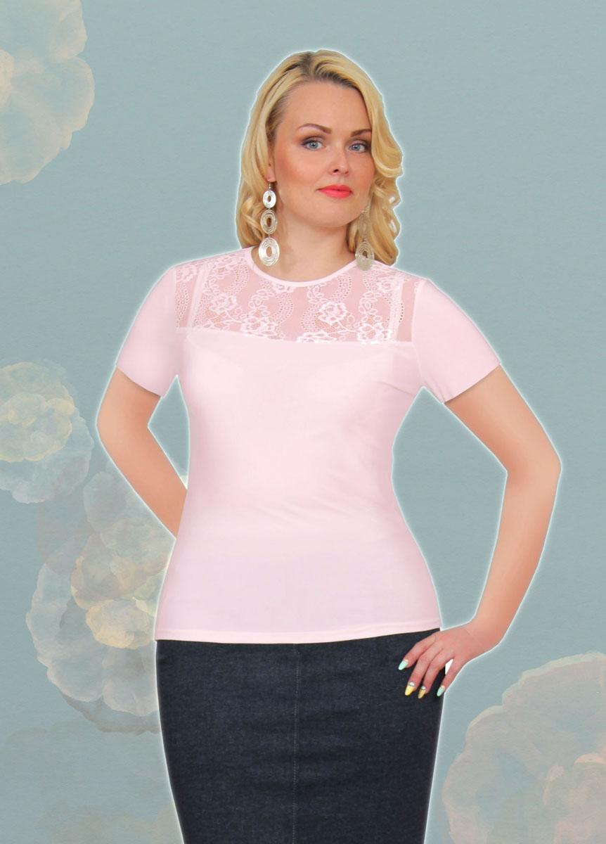 Блузка женская Milana Style, цвет: розовый. 889м. Размер 50889мСтильная женская блузка Milana Style, выполненная из качественного материала, подчеркнет ваш уникальный стиль и поможет создать женственный образ. Модель с короткими рукавами и круглым вырезом горловины оформлена вставкой из гипюра. Такая блузка будет дарить вам комфорт в течение всего дня и послужит замечательным дополнением к вашему гардеробу.