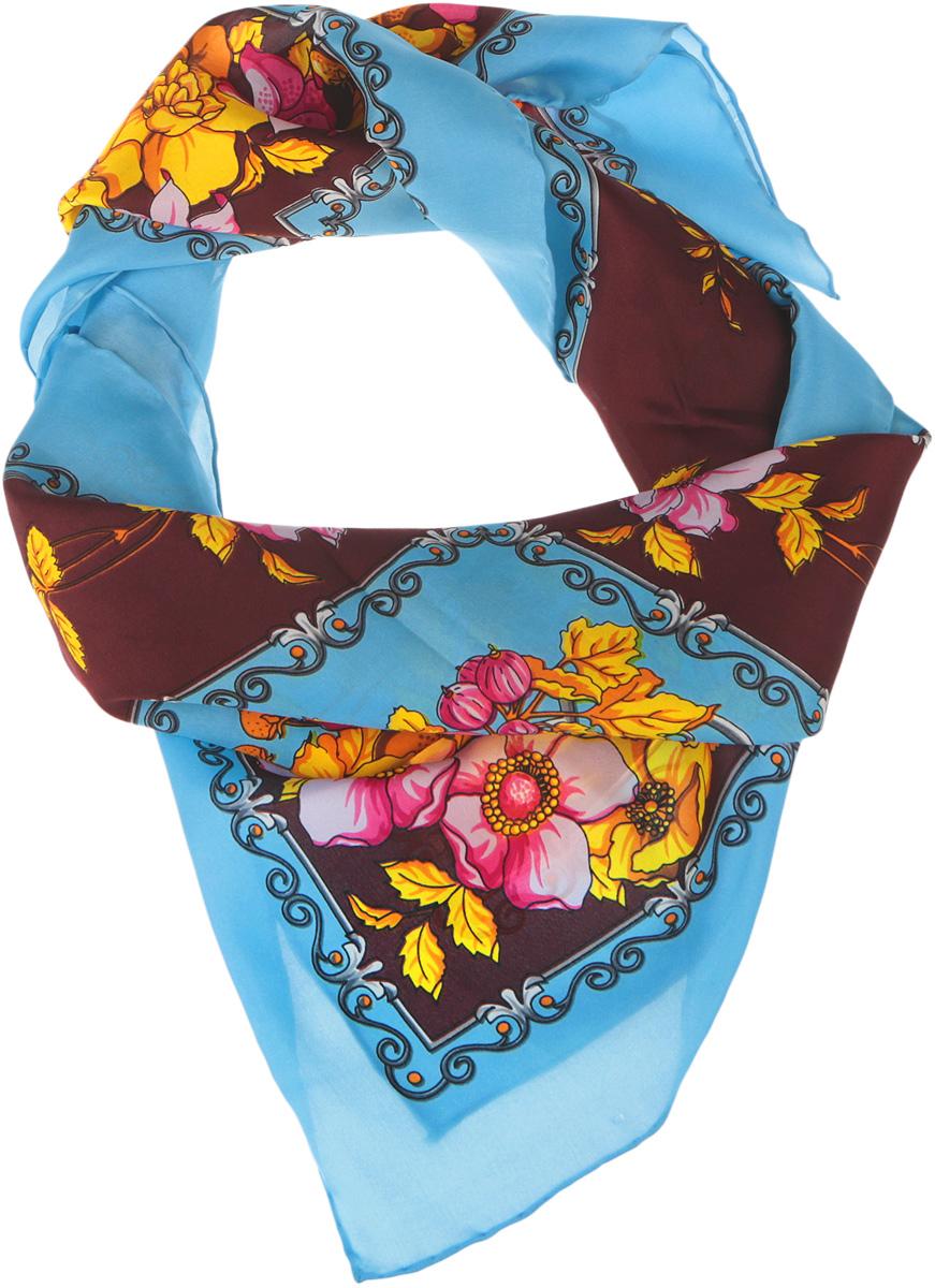 Платок женский Venera, цвет: голубой, желтый, розовый, серый. 1801429-5. Размер 90 см х 90 см1801429-5Нежный шелковый платок Venera станет нарядным аксессуаром, который призван подчеркнуть индивидуальность и очарование женщины. Оригинальный цветочный дизайн полотна добавит изысканности и привлечёт всеобщее внимание. Края платка качественно обработаны вручную.Этот модный аксессуар женского гардероба гармонично дополнит образ современной женщины, следящей за своим имиджем и стремящейся всегда оставаться стильной и элегантной.