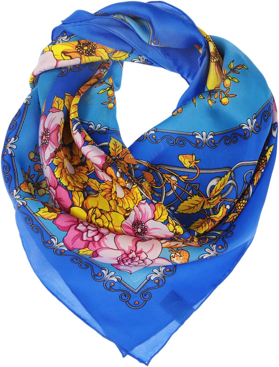Платок женский Venera, цвет: синий, голубой, желтый, розовый. 1801429-9. Размер 90 см х 90 см1801429-9Нежный шелковый платок Venera станет нарядным аксессуаром, который призван подчеркнуть индивидуальность и очарование женщины. Оригинальный цветочный дизайн полотна добавит изысканности и привлечёт всеобщее внимание. Края платка качественно обработаны вручную.Этот модный аксессуар женского гардероба гармонично дополнит образ современной женщины, следящей за своим имиджем и стремящейся всегда оставаться стильной и элегантной.