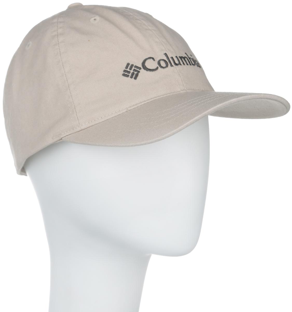 Бейсболка Columbia ROC Logo Ball Cap, цвет: бежевый. 1586931-160. Размер универсальный