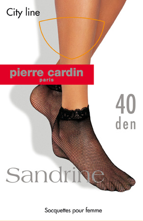 Носки женские Pierre Cardin Sandrine, цвет: Nero (черный). Размер 35/41Cr SandrineЖенские носки Pierre Cardin изготовлены из полиамида с добавлением эластана, что обеспечивает великолепную посадку. Носочки в виде плетеной сетки шелковистые и эластичные. Кружевная резинка плотно облегает ногу, не сдавливая ее, обеспечивая комфорт и удобство.