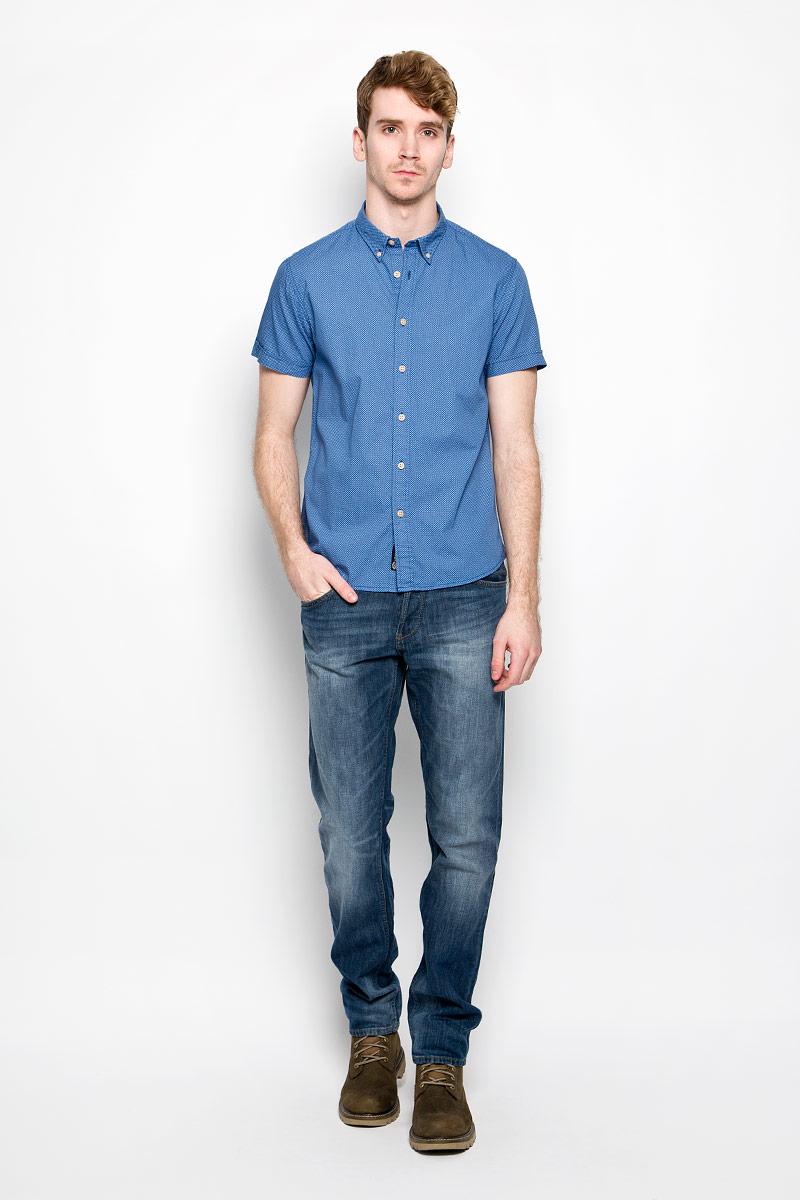 Рубашка мужская Broadway, цвет: синий. 20100198_545. Размер L (50)20100198_545Стильная мужская рубашка Broadway, изготовленная из высококачественного хлопка, необычайно мягкая и приятная на ощупь, не сковывает движения и позволяет коже дышать, обеспечивая наибольший комфорт.Модная рубашка с отложным воротником и короткими рукавами застегивается на пластиковые пуговицы. Уголки воротника фиксируются также при помощи пуговиц.Такая модель будет дарить вам комфорт в течение всего дня и станет стильным дополнением к вашему гардеробу.