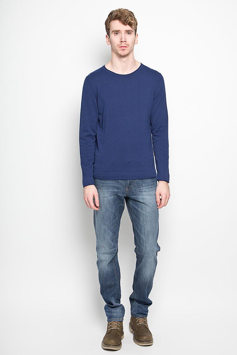 Пуловер мужской Broadway, цвет: темно-синий. 20100137. Размер M (48)20100137_545Мужской пуловер Broadway, выполненный из натурального хлопка, станет стильным дополнением к вашему гардеробу. Изделие очень мягкое и приятное на ощупь, не сковывает движения, позволяет коже дышать. Модель с длинными рукавами имеет круглый вырез горловины. Благодаря однотонной расцветке, пуловер прекрасно сочетается с любыми нарядами. Современный дизайн и расцветка делают этот пуловер модным предметом мужской одежды, в нем вы всегда будете чувствовать себя комфортно.