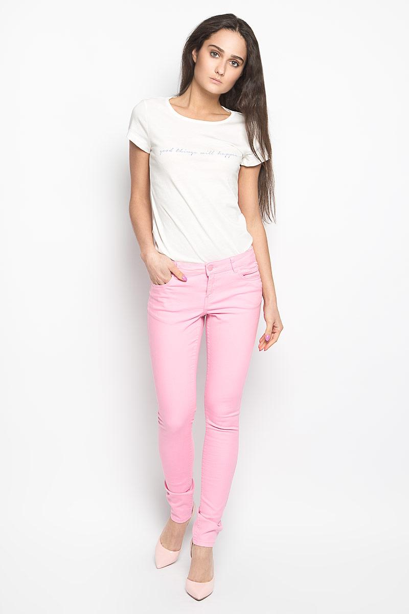 Брюки женские Sela, цвет: розовый. PJ-135/538-6143. Размер 31-34 (48-34)PJ-135/538-6143Стильные женские брюки Sela Denim станут отличным дополнением к вашему современному образу. Модель зауженного кроя выполнена из эластичного хлопка. Застегиваются брюки на металлическую пуговицу в поясе и ширинку на застежке-молнии, имеются шлевки для ремня. Спереди модель дополнена двумя втачными карманами и маленьким накладным кармашком, а сзади - двумя накладными карманами. В этих брюках вы всегда будете чувствовать себя уютно и комфортно.