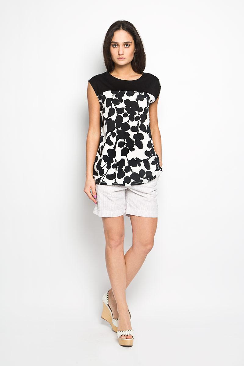 Блузка женская Top Secret, цвет: белый, черный. SBW0228BI. Размер 36 (42)SBW0228BIСтильная женская блуза Top Secret, выполненная из полиэстера, подчеркнет ваш уникальный стиль и поможет создать оригинальный женственный образ.Свободная блузка без рукавов, с круглым вырезом горловины застегивается на пуговицу на спинке. Модель украшена цветочным принтом. Нижняя часть модели по боковому шву оформлена разрезами. Такая блузка будет дарить вам комфорт в течение всего дня и послужит замечательным дополнением к вашему гардеробу.
