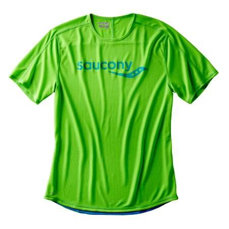 Футболка мужская для бега Saucony, цвет: зеленый. SA81173-VPS. Размер M (48/50)SA81173-VPSФутболка Saucony предназначена для бега и для тренировок высокой интенсивности. Модель обладает малым весом. Высококачественный материал отводит влагу и позволяет телу оставаться сухим. Крой не стесняет движений во время бега, комфортные швы предотвращают дискомфорт во время длительных забегов.