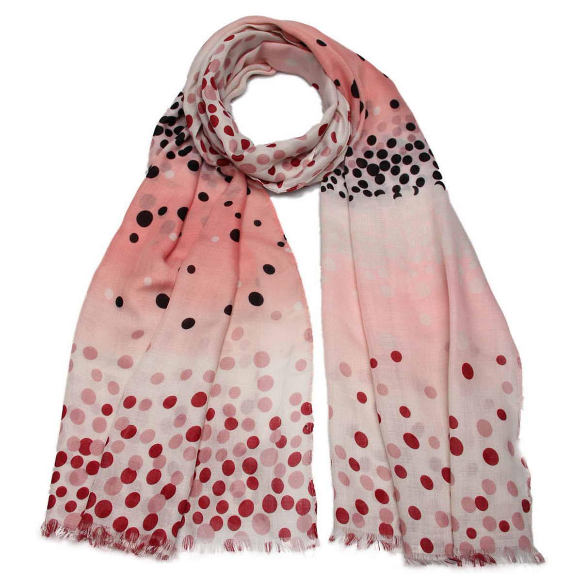 Палантин женский Venera, цвет: светло-розовый, черный, бордовый. 3415001-05. Размер 90 см х 180 см3415001-05Элегантный женский палантин Venera изготовлен из вискозы и оформлен оригинальным принтом. Палантин имеет отличное качество и приятную текстуру материала, он подарит настоящий комфорт при носке, а большие размеры позволят завязать изделие множеством вариантов.Этот модный аксессуар женского гардероба гармонично дополнит образ современной женщины, следящей за своим имиджем и стремящейся всегда оставаться стильной. В этом палантине вы всегда будете выглядеть женственной и привлекательной.