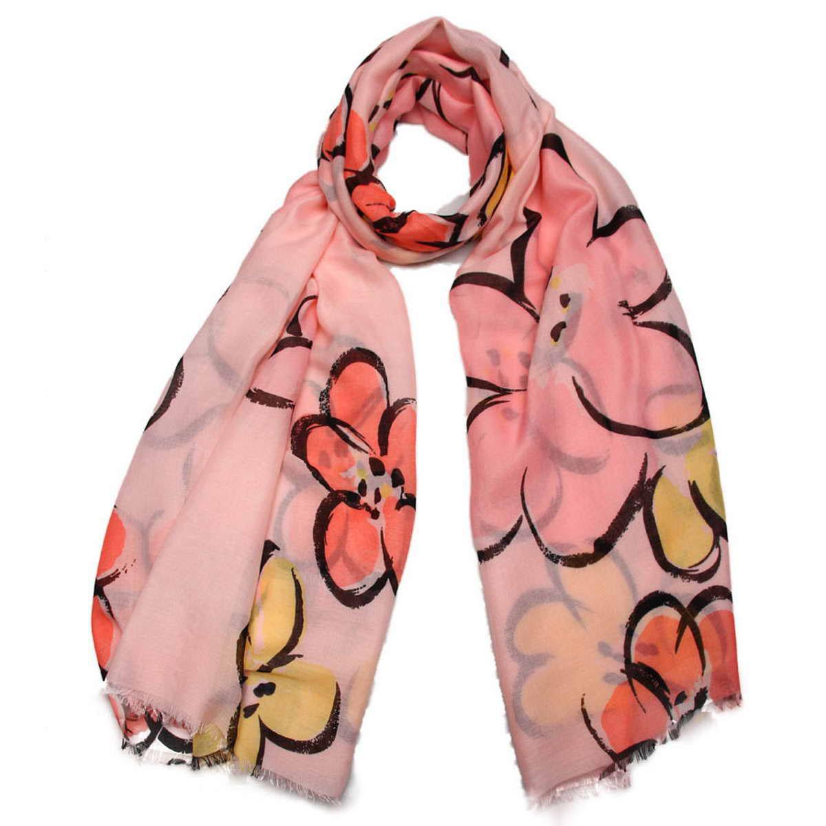Палантин женский Venera, цвет: розовый, черный, желтый. 3415101-05. Размер 90 см х 180 см3415101-05Элегантный палантин Venera согреет вас в непогоду и станет достойным завершением вашего образа.Палантин изготовлен из 100% вискозы. Легкий и приятный на ощупь палантин классического кроя оформлен цветочным принтом. Палантин красиво драпируется, он превосходно дополнит любой наряд и подчеркнет ваш изысканный вкус.Легкий и изящный палантин привнесет в ваш образ утонченность и шарм.