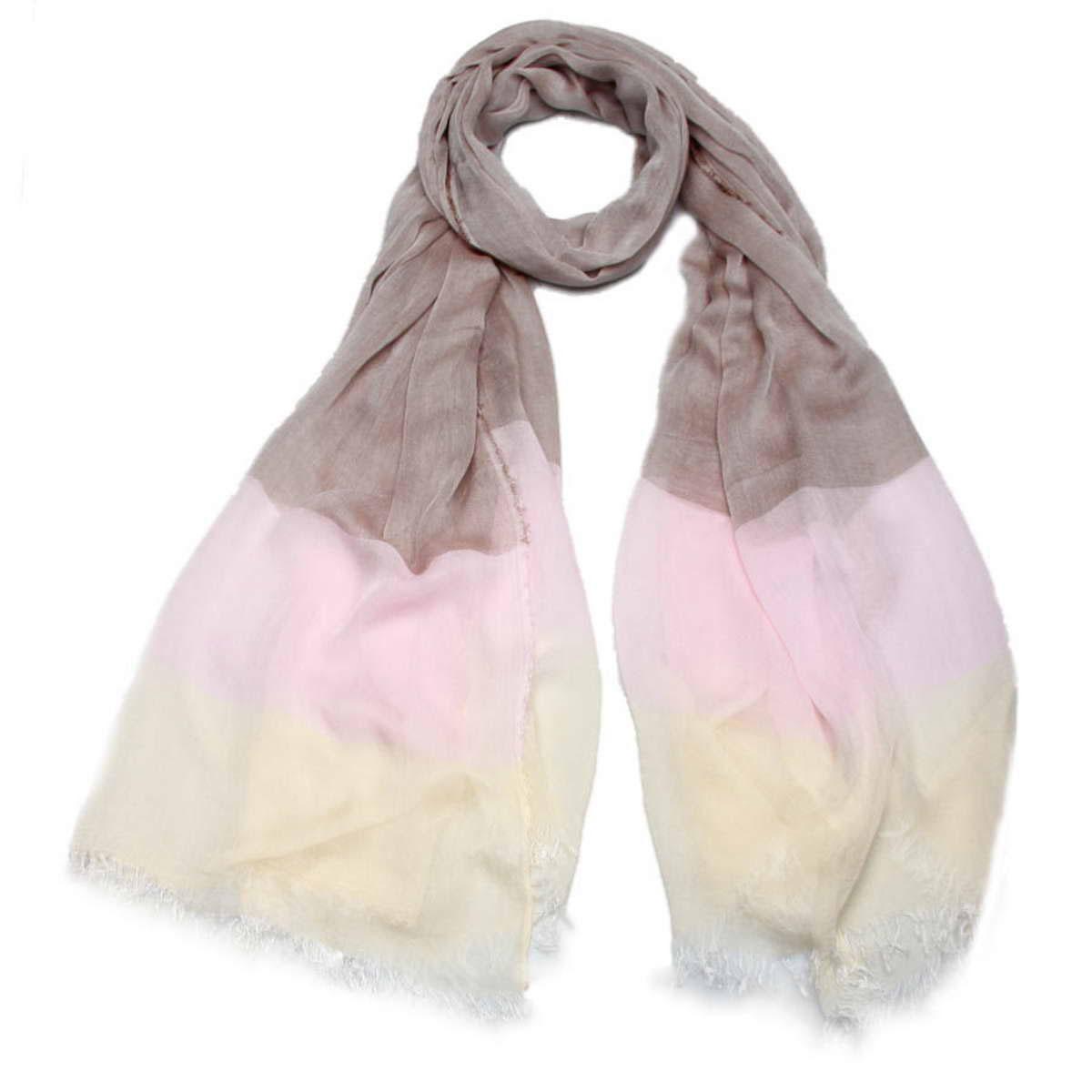 Палантин женский Venera, цвет: серый, розовый, молочный. 3415501-23. Размер 100 см х 200 см3415501-23Элегантный женский палантин Venera изготовлен из модала и шелка. Палантин имеет отличное качество и приятную текстуру материала, он подарит настоящий комфорт при носке, а большие размеры позволят согреться в прохладную погоду.Изделие оформлено гаммой нескольких цветов и небольшой бахромой по краям.Этот модный аксессуар женского гардероба гармонично дополнит образ современной женщины, следящей за своим имиджем и стремящейся всегда оставаться стильной и элегантной. В этом палантине вы всегда будете выглядеть женственной и привлекательной.