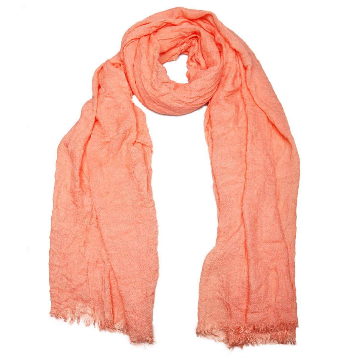 Палантин женский Venera, цвет: коралловый. 3415601-05. Размер 90 см х 200 см3415601-05Элегантный однотонный женский палантин Venera изготовлен из вискозы. Палантин имеет отличное качество и приятную текстуру материала, он подарит настоящий комфорт при носке, а большие размеры позволят завязать изделие множеством вариантов. Жатая структура ткани смотрится весьма оригинально.