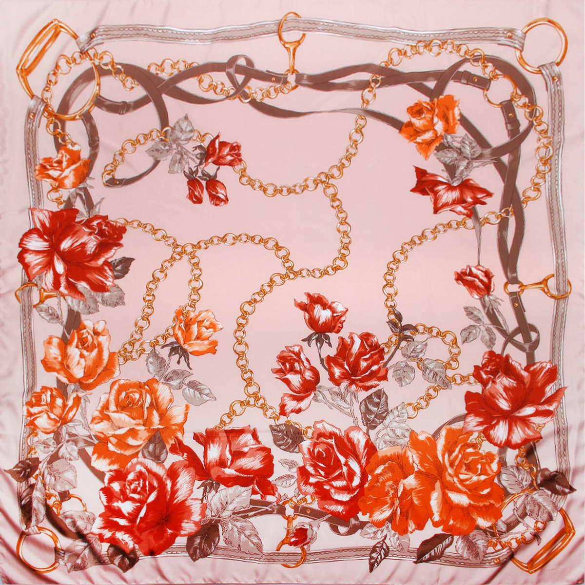 Платок женский Venera, цвет: светло-розовый, серый, оранжевый. 3904672-05. Размер 120 см х 120 см3904672-05Изысканный и аристократично шикарный женский платок Venera изготовлен из легкого и нежного полиэстера, станет самым популярным и неповторимым аксессуаром в этом сезоне. Спокойная и универсальная цветовая гамма, а также рисунок из красивых роз придаст вашему образу женственности, утонченности и деликатности. Классическая квадратная форма позволяет носить платок на шее, украшать им прическу или декорировать сумочку.Платок Venera превосходно дополнит любой наряд и подчеркнет ваш неповторимый вкус и элегантность.