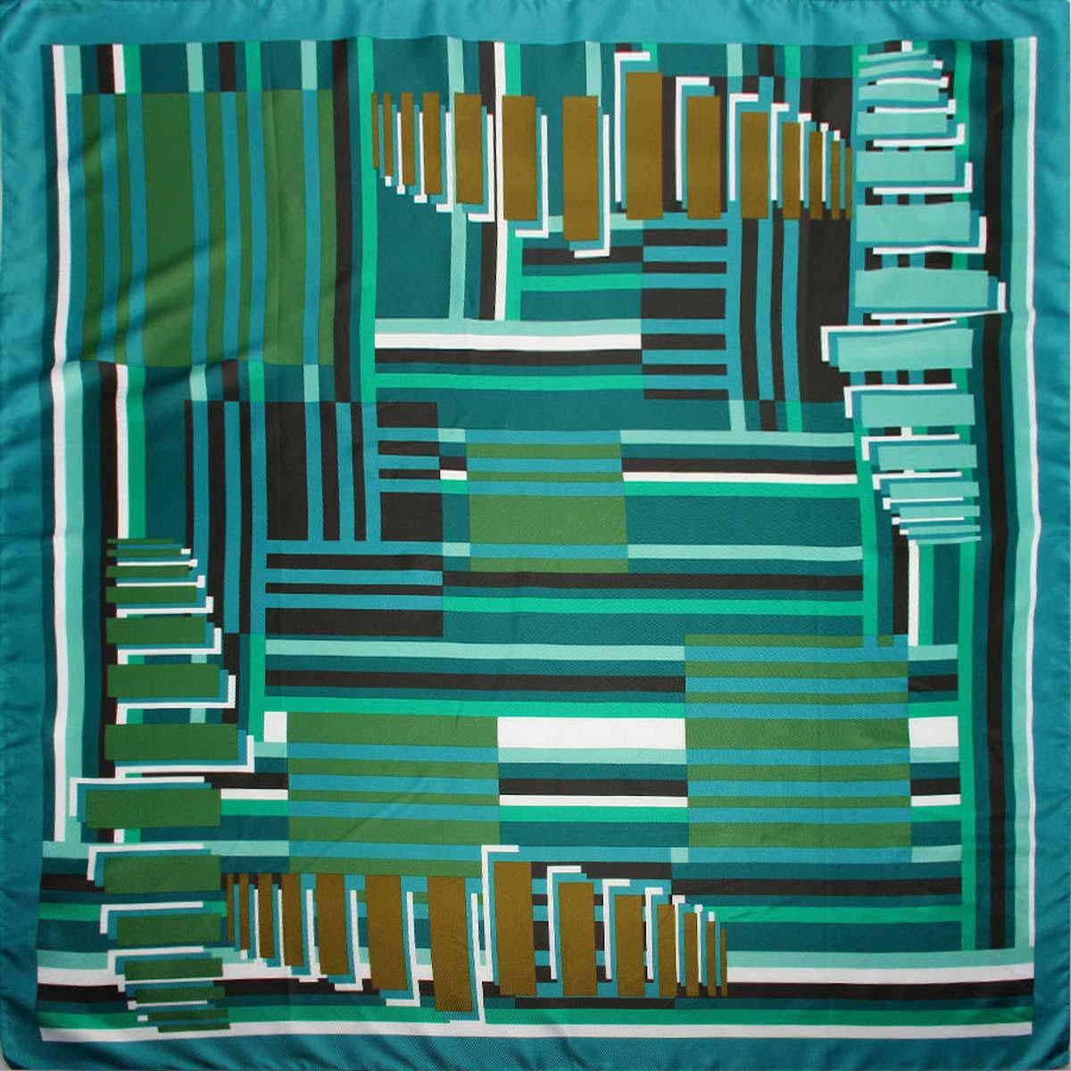 Платок женский Venera, цвет: бирюзовый, зеленый, черный. 3904872-7. Размер 90 см х 90 см3904872-7Стильный женский платок Venera станет великолепным завершением любого наряда. Платок, изготовленный из полиэстера, оформлен принтом в полоску. Классическая квадратная форма позволяет носить платок на шее, украшать им прическу или декорировать сумочку. Легкий и приятный на ощупь платок поможет вам создать изысканный женственный образ. Такой платок превосходно дополнит любой наряд и подчеркнет ваш неповторимый вкус и элегантность.