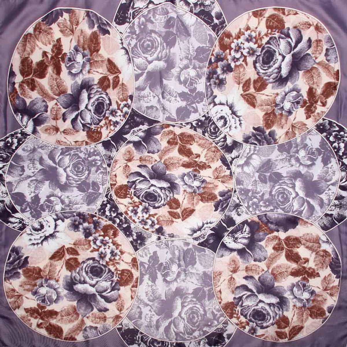 Платок женский Venera, цвет: сиренево-серый, коричневый. 3904972-5. Размер 90 см х 90 см3904972-5Стильный женский платок Venera станет великолепным завершением любого наряда. Платок, изготовленный из полиэстера, оформлен цветочным принтом. Классическая квадратная форма позволяет носить платок на шее, украшать им прическу или декорировать сумочку. Легкий и приятный на ощупь платок поможет вам создать изысканный женственный образ. Такой платок превосходно дополнит любой наряд и подчеркнет ваш неповторимый вкус и элегантность.