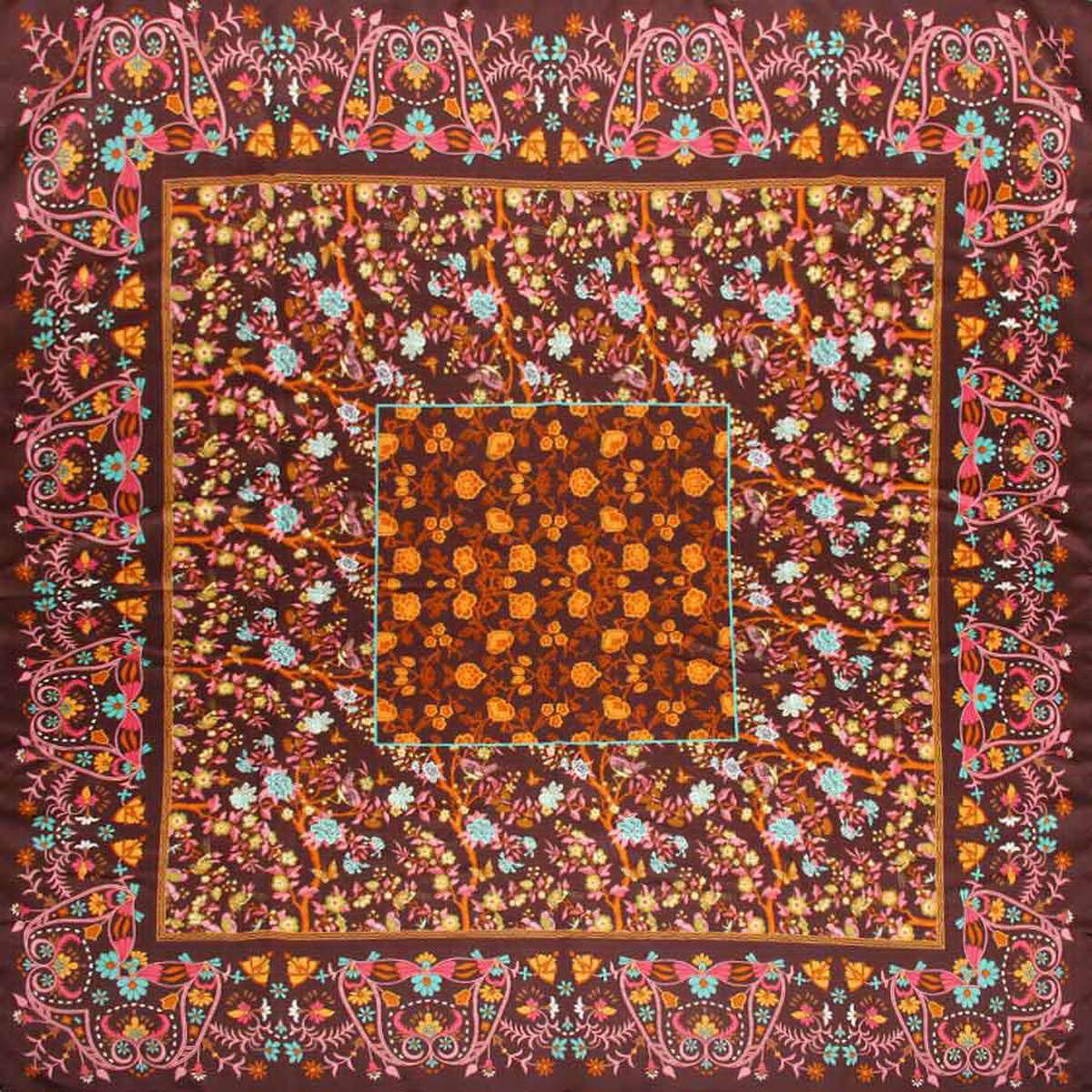 Платок женский Venera, цвет: темно-коричневый, розовый, коричневый. 3904972-29. Размер 90 см х 90 см3904972-29Стильный женский платок Venera станет великолепным завершением любого наряда. Платок, изготовленный из полиэстера, оформлен цветочный принтом. Классическая квадратная форма позволяет носить платок на шее, украшать им прическу или декорировать сумочку. Легкий и приятный на ощупь платок поможет вам создать изысканный женственный образ. Такой платок превосходно дополнит любой наряд и подчеркнет ваш неповторимый вкус и элегантность.