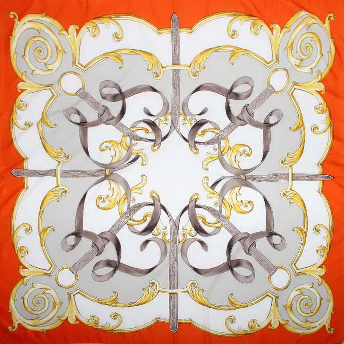 Платок женский Venera, цвет: оранжевый, серый, белый. 3904972-31. Размер 90 см х 90 см3904972-31Женственный аксессуар, платок из полиэстера, нежный и легкий, приятный к коже и отлично драпируется, яркие оттенки очаровательных цветков внесут в Ваш образ очарование и шарм.