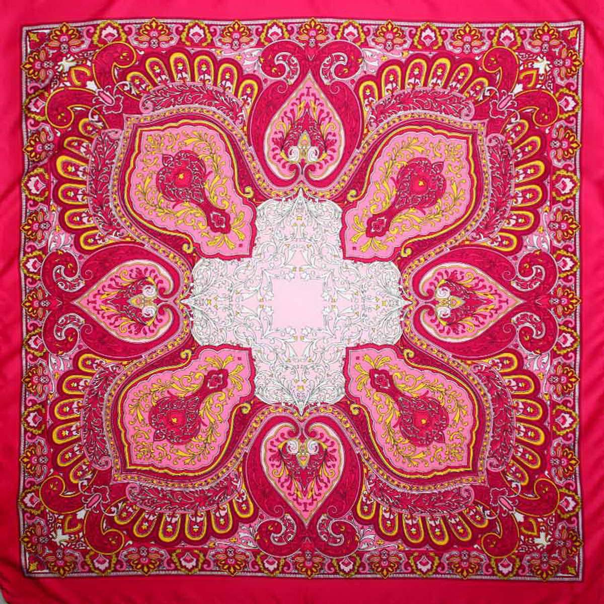 Платок женский Venera, цвет: фуксия, розовый, желтый. 3906133-05. Размер 90 см х 90 см3906133-05Изысканный и невероятно красивый женский платок Venera изготовлен из нежного и легкого полиэстера, станет умопомрачительным аксессуаром для нежной и романтичной женщины, которая всегда стремиться произвести эффект на окружающих. Этот замечательный платок с деликатным восточным рисунком добавит образу экзотичности, восточного шарма и великолепия.Классическая квадратная форма позволяет носить платок на шее, украшать им прическу или декорировать сумочку.Такой платок превосходно дополнит любой наряд и подчеркнет ваш неповторимый вкус и элегантность.