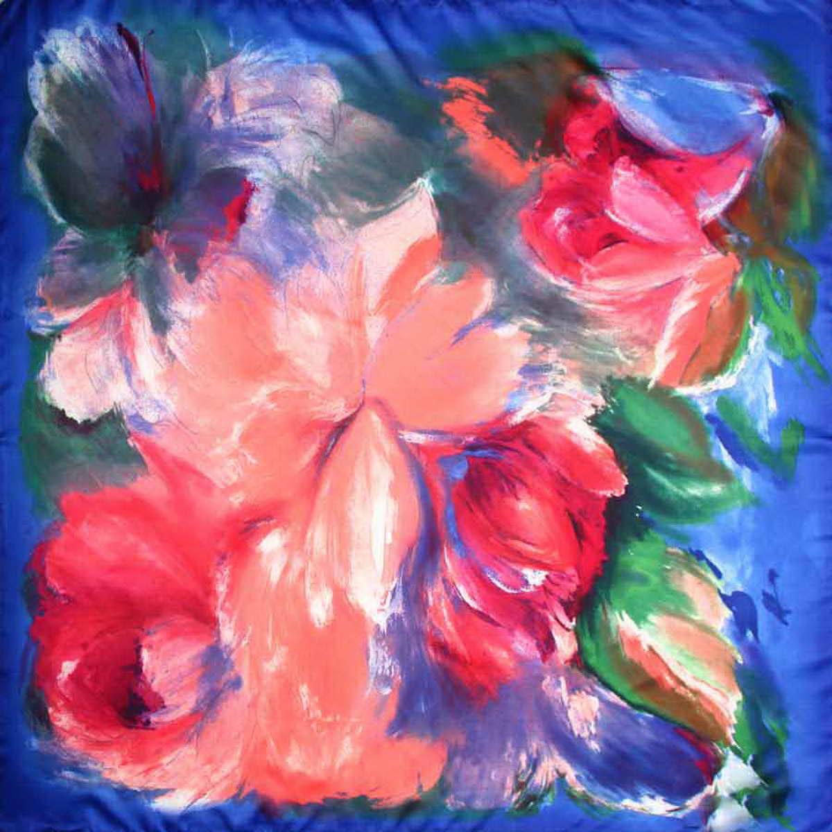 Платок женский Venera, цвет: синий, розовый, зеленый. 3906333-4. Размер 90 см х 90 см3906333-4Изысканный и невероятно красивый женский платок Venera изготовлен из полиэстера, станет любимым и незаменимым украшением. Это легкий и нежный платок имеет превосходный рисунок больших цветов, которые будто насыщенны душой и настроением художника. Классическая квадратная форма позволяет носить платок на шее, украшать им прическу или декорировать сумочку. С таким платком вы всегда будете неотразимой, нежной и романтичной натурой.Платок Venera превосходно дополнит любой наряд и подчеркнет ваш неповторимый вкус и элегантность.