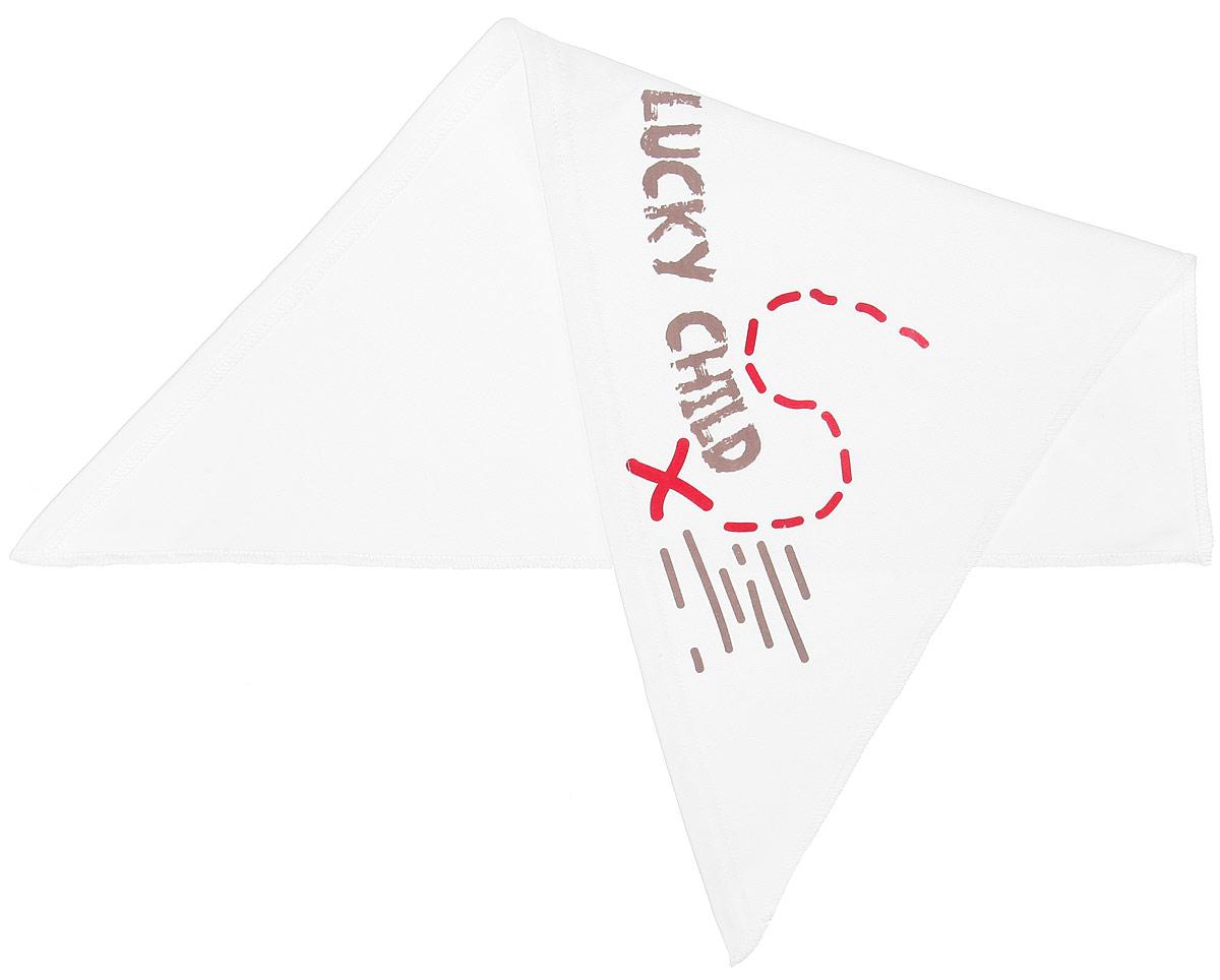 Бандана для мальчика Lucky Child Дальние берега, цвет: молочный. 22-93. Размер 4722-93Бандана для мальчика Lucky Child Дальние берега станет стильным дополнением к детскому гардеробу. Изготовленная из натурального хлопка, она мягкая и приятная на ощупь, хорошо пропускает воздух.Бандана треугольной формы завязывается на голове сзади. Модель оформлена оригинальной термоаппликацией и названием бренда. Такая бандана послужит отличным аксессуаром во время прогулок и игр на свежем воздухе и защитит голову вашего ребенка от солнца и сильного ветра. В ней маленький модник всегда будет в центре внимания!Уважаемые клиенты!Размер, доступный для заказа, является обхватом головы.