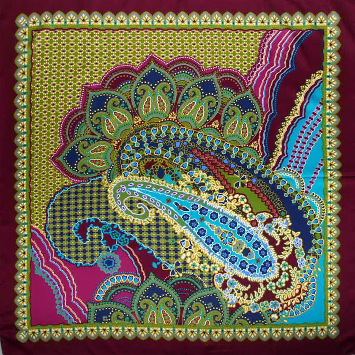 Платок женский Venera, цвет: фиолетовый, зеленый, синий. 3906833-09. Размер 90 см х 90 см3906833-09Стильный женский платок Venera станет великолепным завершением любого наряда. Платок, изготовленный из полиэстера, оформлен оригинальным принтом. Классическая квадратная форма позволяет носить платок на шее, украшать им прическу или декорировать сумочку. Легкий и приятный на ощупь платок поможет вам создать изысканный женственный образ. Такой платок превосходно дополнит любой наряд и подчеркнет ваш неповторимый вкус и элегантность.