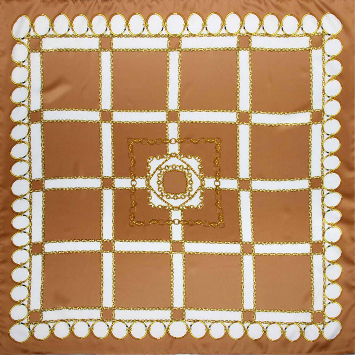 Платок женский Venera, цвет: бежевый, белый, желтый. 3914783-20. Размер 90 см х 90 см3914783-20Стильный женский платок Venera станет великолепным завершением любого наряда. Платок изготовлен из полиэстера и оформлен принтом в виде цепей и колец. Классическая квадратная форма позволяет носить платок на шее, украшать им прическу или декорировать сумочку. Легкий и приятный на ощупь платок поможет вам создать изысканный женственный образ. Такой платок превосходно дополнит любой наряд и подчеркнет ваш неповторимый вкус и элегантность.