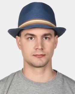Шляпа мужская Canoe Habit, цвет: синий. 1961504. Размер 591961504Классическая шляпа Canoe Habit непременно украсит любой наряд.Шляпа из искусственной соломы оформлена трикотажным ремешком с логотипом фирмы вокруг тульи. Благодаря своей форме, шляпа удобно садится по голове и подойдет к любому стилю.Такая шляпа подчеркнет вашу неповторимость и дополнит ваш повседневный образ.