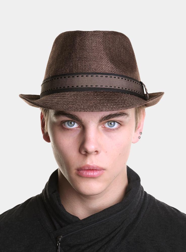 Шляпа мужская Canoe Benni, цвет: коричневый. 1963379. Размер 571963379Модная шляпа-трилби Canoe Benni, выполненная из полиэстера, украсит любой наряд.Шляпа оформлена двойной простроченной лентой вокруг тульи. Благодаря своей форме, шляпа удобно садится по голове и подойдет к любому стилю. Шляпа легко восстанавливает свою форму после сжатия.Такая шляпка подчеркнет вашу неповторимость и дополнит ваш повседневный образ.