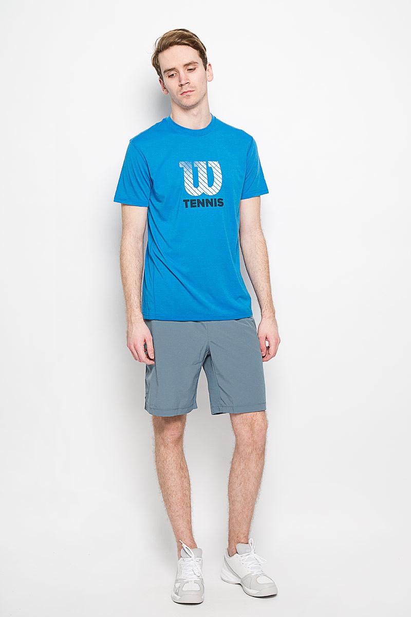 Шорты для тенниса мужские Wilson Rush 9 Woven Short, цвет: серый. WRA743203. Размер M (46/48)WRA743203Мужские шорты для тенниса Wilson Rush 9 Woven - это незаменимый атрибут в гардеробе любого спортсмена. Стильные удобные шорты выполнены из 100% полиэстера, благодаря чему превосходно сидят, не стесняют движений и великолепно отводят влагу, оставляя тело сухим даже во время интенсивных тренировок. Модель дополнена широкой эластичной резинкой на талии. Объем пояса регулируется при помощи шнурка-кулиски. Шорты имеют два втачных кармана спереди и небольшие разрезы в боковых швах.Устремляясь за очередным укороченным ударом и высоким мячом, используйте всю силу ног, а легкие шорты помогут вам в этом: они подарят комфорт и полную свободу движений. Эти модные шорты послужат отличным дополнением к вашему спортивному гардеробу. В них вы всегда будете чувствовать себя уверенно и комфортно.
