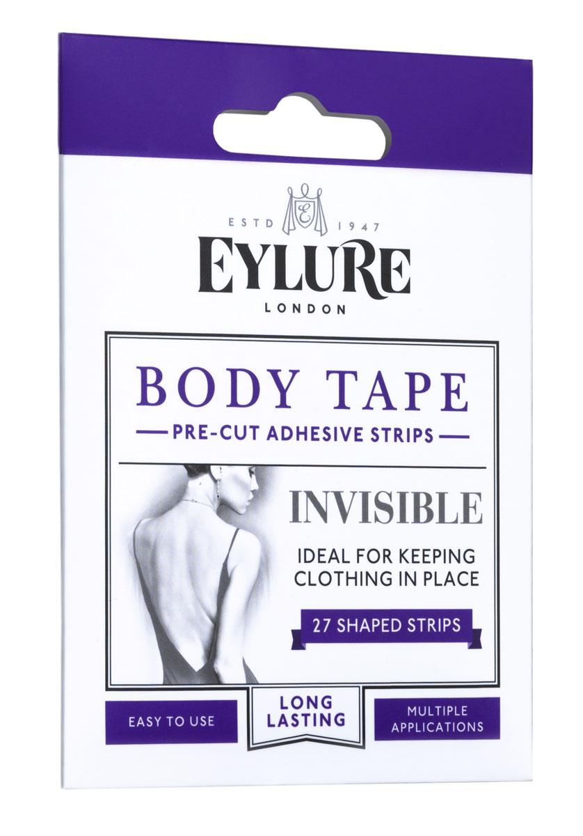 Стикеры для тела Eylure Body Tape, цвет: белый, 27 шт. 6008011. Размер универсальный6008011Специальные клеящиеся полоски Eylure Body Tape предназначены для незаметной фиксации выреза одежды на теле. В наборе 27 полосок: 12 изогнутых и 15 прямых.