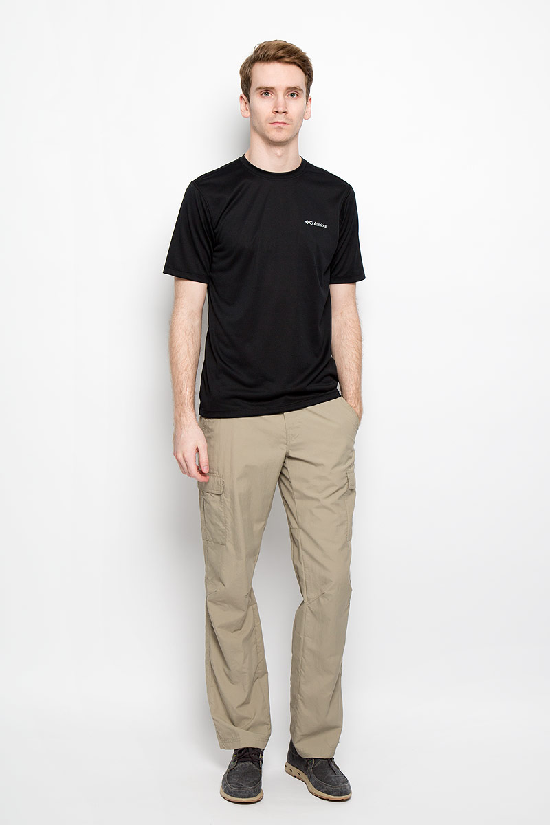 Футболка мужская Columbia Tech Trek SS Shirt, цвет: черный. 1586952_010. Размер M (50)