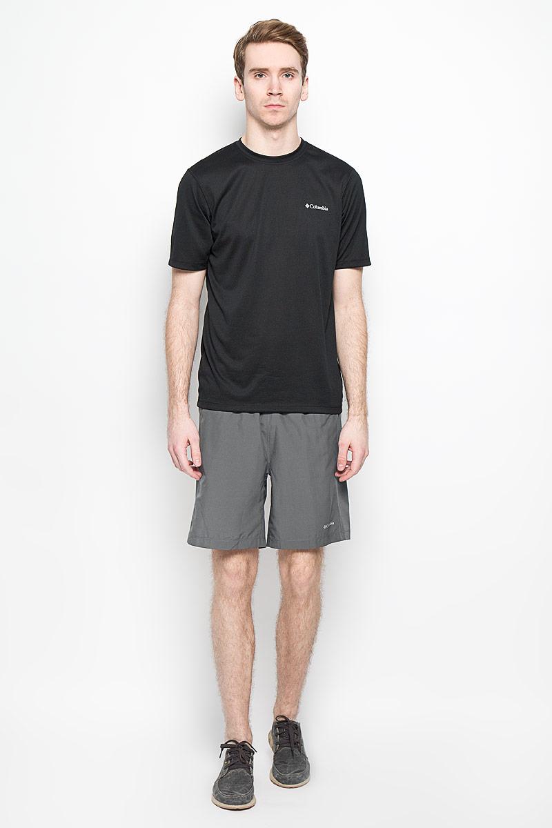 Шорты мужские Columbia Zero Rules II Short, цвет: темно-серый. 1577021-053. Размер M (50)1577021-053Мужские шорты Columbia Zero Rules II Short станут отличным дополнением к вашему спортивному гардеробу. Они выполнены из полиэстера, благодаря чему великолепно тянутся, удобно сидят и превосходно отводят влагу от тела, оставляя кожу сухой.Объем талии регулируется при помощи шнурка-кулиски на поясе. Сзади модель дополнена прорезным карманом, который закрывается на застежку-молнию.Эти модные свободные шорты идеально подойдут для повседневной носки, а также футбола, фитнеса и других спортивных упражнений. В них вы всегда будете чувствовать себя уверенно и комфортно.