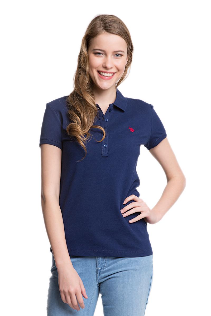 Поло женское U.S. Polo Assn., цвет: темно-синий. G082GL0110GTP01-IY06_LC0023. Размер XS (40)G082GL0110GTP01-IY06_LC0023Стильная женская футболка-поло U.S. Polo Assn., выполненная из высококачественного эластичного хлопка, обладает высокой теплопроводностью, воздухопроницаемостью и гигроскопичностью, позволяет коже дышать.Модель с короткими рукавами и отложным воротником - идеальный вариант для создания оригинального современного образа. Сверху футболка-поло застегивается на пластиковые пуговицы. Воротник и низ рукавов выполнены из трикотажной резинки. Модель оформлена на груди небольшой вышивкой.