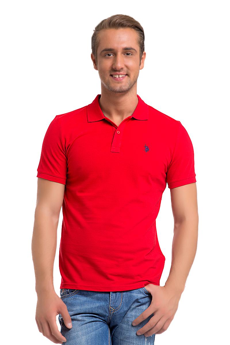 Поло мужское U.S. Polo Assn., цвет: красный. G081GL0110GTP04IY6_KR0148. Размер XS (42/44)G081GL0110GTP04IY6_KR0148Стильная мужская футболка-поло U.S. Polo Assn., выполненная из высококачественного хлопка, обладает высокой теплопроводностью, воздухопроницаемостью и гигроскопичностью, позволяет коже дышать.Модель с короткими рукавами и отложным воротником - идеальный вариант для создания оригинального современного образа. Сверху футболка-поло застегивается на две пуговицы. Воротник и низ рукавов выполнены из трикотажной резинки. Модель оформлена на груди небольшой вышивкой.