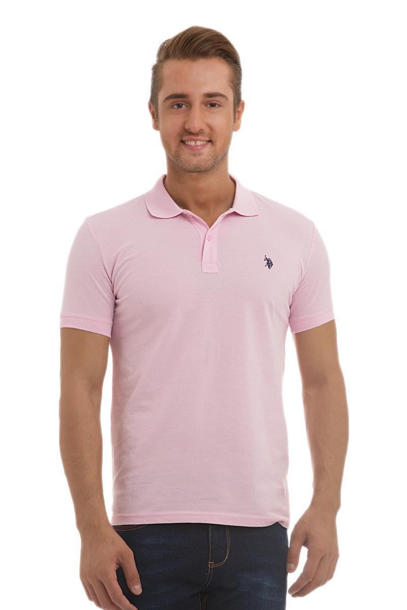Поло мужское U.S. Polo Assn., цвет: светло-розовый. G081GL0110GTP04IY6_VR041. Размер L (50/52)G081GL0110GTP04IY6_VR041Стильная мужская футболка-поло U.S. Polo Assn., выполненная из высококачественного хлопка, обладает высокой теплопроводностью, воздухопроницаемостью и гигроскопичностью, позволяет коже дышать.Модель с короткими рукавами и отложным воротником - идеальный вариант для создания оригинального современного образа. Сверху футболка-поло застегивается на две пуговицы. Воротник и низ рукавов выполнены из трикотажной резинки. Модель оформлена на груди небольшой вышивкой.