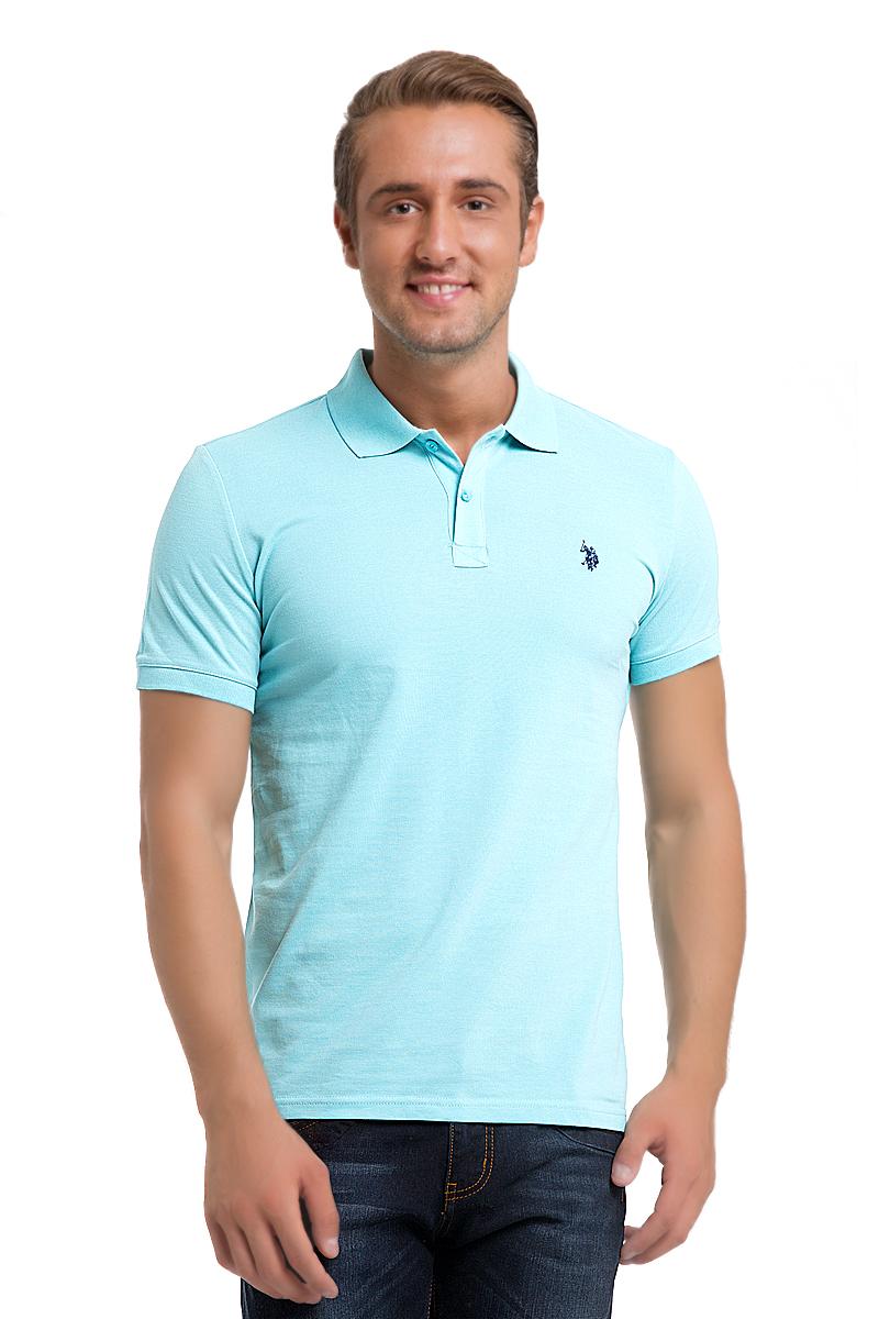 Поло мужское U.S. Polo Assn., цвет: светло-бирюзовый. G081GL0110GTP04IY6_YS0008. Размер XS (42/44)G081GL0110GTP04IY6_YS0008Стильная мужская футболка-поло U.S. Polo Assn., выполненная из высококачественного хлопка, обладает высокой теплопроводностью, воздухопроницаемостью и гигроскопичностью, позволяет коже дышать.Модель с короткими рукавами и отложным воротником - идеальный вариант для создания оригинального современного образа. Сверху футболка-поло застегивается на две пуговицы. Воротник и низ рукавов выполнены из трикотажной резинки. Модель оформлена на груди небольшой вышивкой.