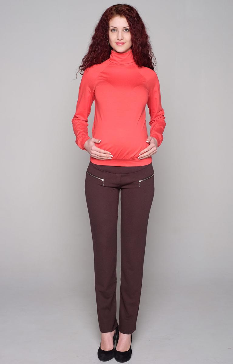 Водолазка для беременных Фэст, цвет: коралловый. 88509Е. Размер XXL (52)88509ЕВодолазка с рукавом-реглан - базовая вещь для повседневного гардероба. В области талии мягкая сборка, обеспечивающая оптимальную посадку изделия на любом сроке беременности. Фэст - одежда по вашей фигуре.