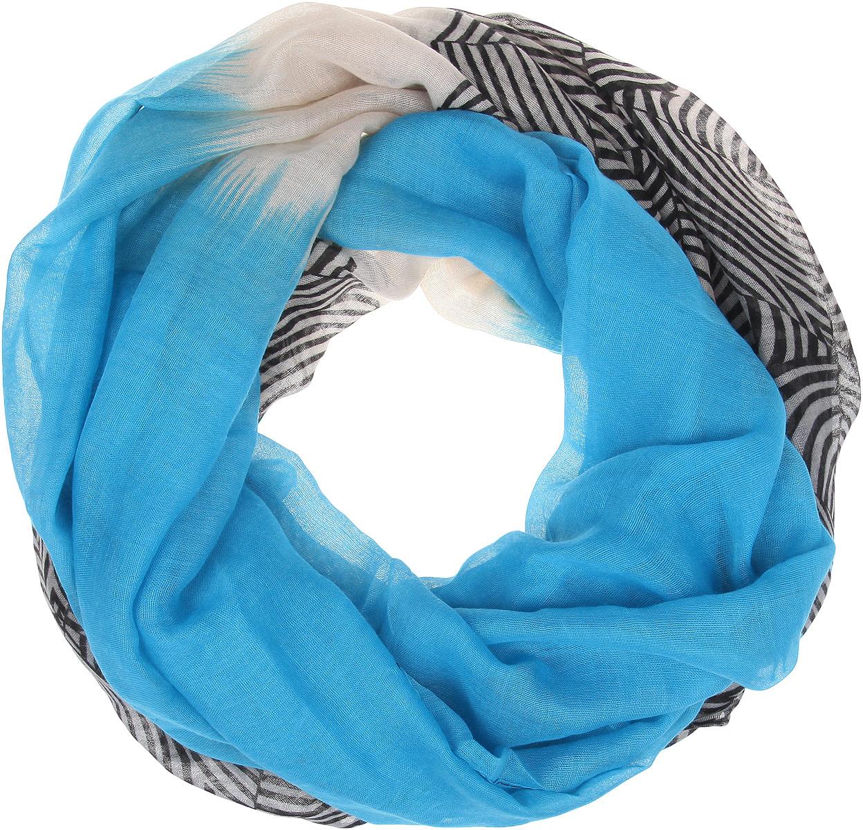Палантин женский Moodo, цвет: голубой, белый, черный. L-SZ-2013 BLUE. Размер 190 см х 90 смL-SZ-2013_BLUEЭлегантный палантин Moodo согреет вас в непогоду и станет достойным завершением вашего образа.Палантин изготовлен из высококачественного полиэстера. Легкий и приятный на ощупь палантин классического кроя оформлен оригинальным принтом.Палантин красиво драпируется, он превосходно дополнит любой наряд и подчеркнет ваш изысканный вкус.Легкий и изящный палантин привнесет в ваш образ утонченность и шарм.