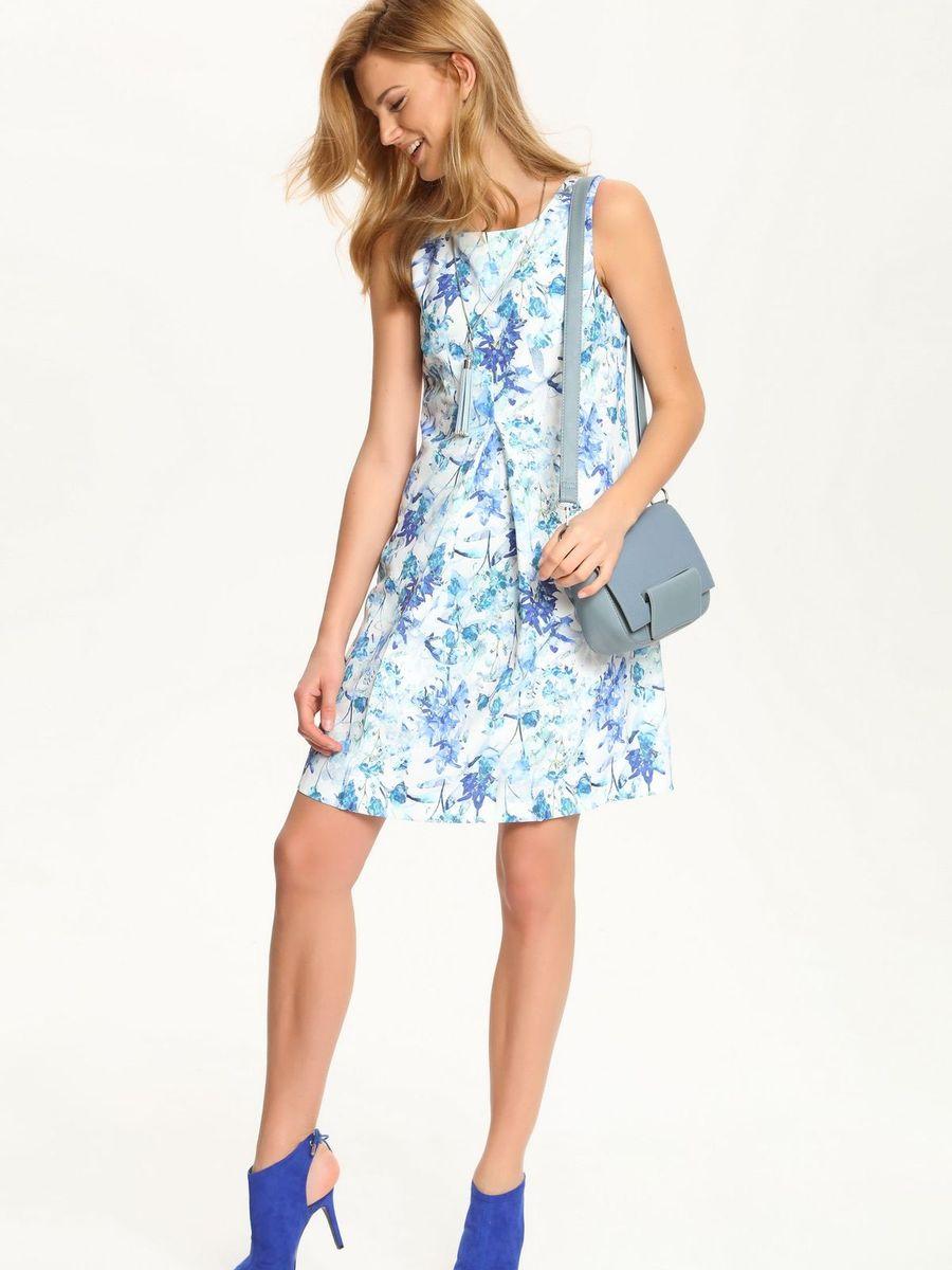 Платье Top Secret, цвет: белый, синий. SSU1545NI. Размер 42 (48)SSU1545NIПлатье Top Secret идеально подойдет для вас и станет стильным дополнением к вашему гардеробу. Выполненное из полиэстера с добавлением эластана, оно очень мягкое и приятное на ощупь, не сковывает движений, обеспечивая комфорт. Подкладка изделия изготовлена из полиэстера. Модель с круглым вырезом горловины застегивается на скрытую молнию на спинке. Изделие оформлено цветочным принтом. Это эффектное платье подчеркнет достоинства вашей фигуры и поможет создать яркий и привлекательный образ.