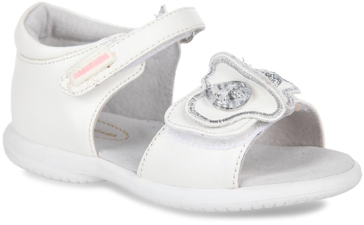 Сандалии для девочки Аллигаша, цвет: белый. 13-331. Размер 2213-331Очаровательные сандалии от Аллигаша придутся по душе вашей маленькой принцессе и идеально подойдут для повседневной носки в летнюю погоду.Модель выполнена из искусственной кожи. Ремешок на подъеме декорирован прорезиненной нашивкой с названием бренда. Передний ремешок украшен оригинальной аппликацией, оформленной декоративными камнями.Полужесткий закрытый задник и ремешки на застежках-липучках надежно зафиксируют модель на стопе. Подкладка и стелька из натуральной кожи позволяют ножкам дышать. Супинатор на стельке обеспечивает правильное положение ноги ребенка при ходьбе, предотвращает плоскостопие. Подошва с рифлением в виде оригинального рисунка гарантирует отличное сцепление с любой поверхностью.Стильные и удобные сандалии - незаменимая вещь в гардеробе каждой девочки!