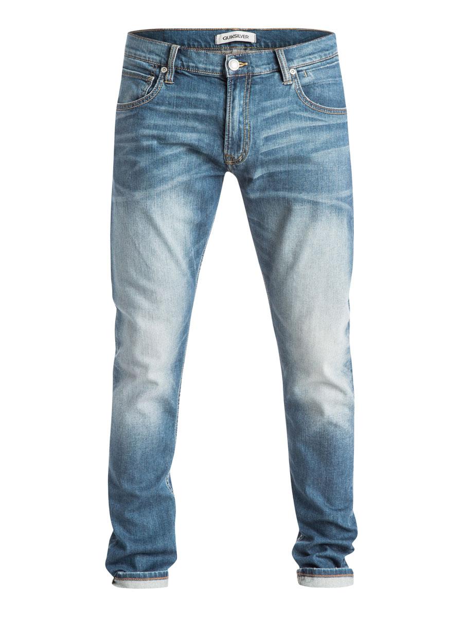 Джинсы мужские Quiksilver, цвет: светло-синий. EQYDP03168-BYGW. Размер 32-32 (48-32)EQYDP03168-BYGWСтильные мужские джинсы Quiksilver изготовлены из эластичного хлопка. Модель зауженного кроя застегивается на пуговицу и ширинку на застежке-молнии, имеются шлевки для ремня. Спереди модель оформлена двумя врезными карманами и двумя накладными маленькими карманами, сзади - двумя накладными карманами.
