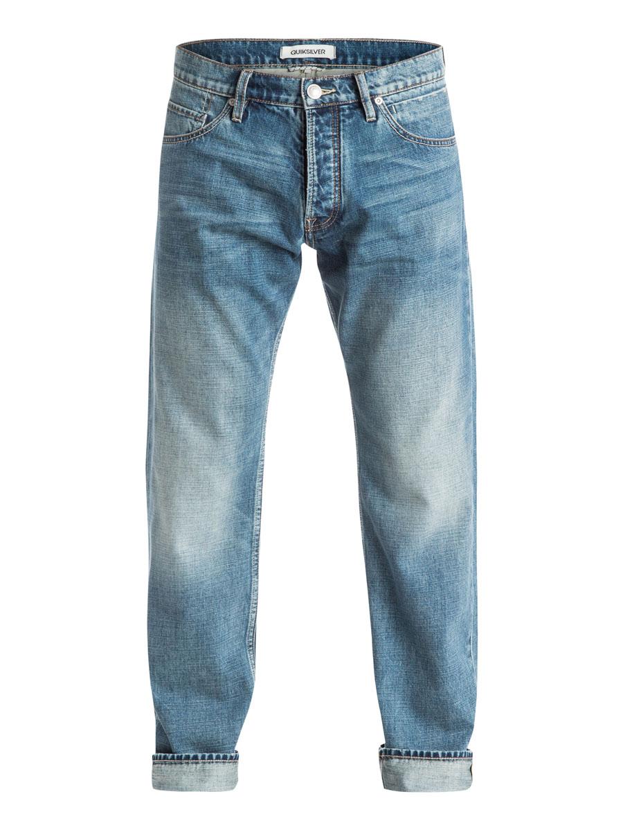 Джинсы мужские Quiksilver, цвет: светло-синий. EQYDP03174-BLBW. Размер 30-32 (46-32)EQYDP03174-BLBWСтильные мужские джинсы Quiksilver, изготовленные из натурального хлопка застегиваются на пуговицу и ширинку на застежках-пуговицах, имеются шлевки для ремня. Спереди модель оформлена двумя глубокими вшитыми карманами и двумя небольшими секретными кармашками, а сзади - двумя накладными карманами.
