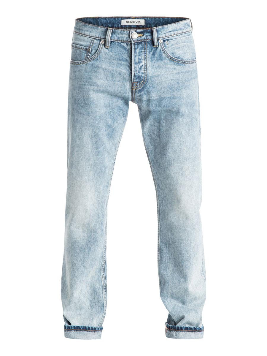 Джинсы мужские Quiksilver, цвет: серо-голубой. EQYDP03177-BGVW. Размер 30-32 (46-32)EQYDP03177-BGVWСтильные мужские джинсы Quiksilver, изготовленные из натурального хлопка застегиваются на пуговицу и ширинку на застежках-пуговицах, имеются шлевки для ремня. Спереди модель оформлена двумя глубокими вшитыми карманами и двумя небольшими секретными кармашками, а сзади - двумя накладными карманами.