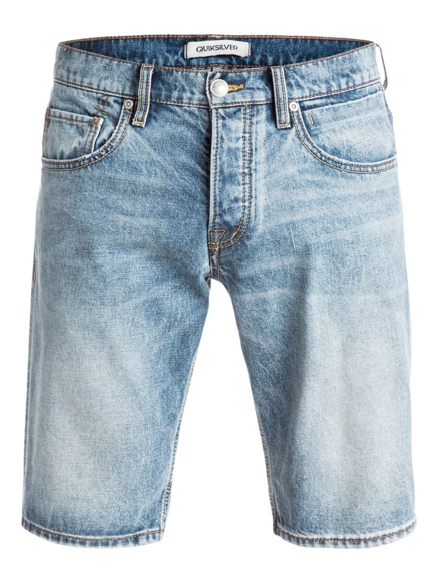 Шорты мужские Quiksilver, цвет: синий. EQYDS03040-BGVW. Размер 28 (44)EQYDS03040-BGVWМужские шорты Quiksilver выполнены из натурального хлопка.Шорты застегиваются на ширинку на пуговицах и пуговицу на поясе, имеются шлевки для ремня. Модель дополнена двумя втачными карманами и одним накладным кармашком спереди, а также двумя накладными карманами сзади. Шорты украшены декоративными потертостями и перманентными складками.