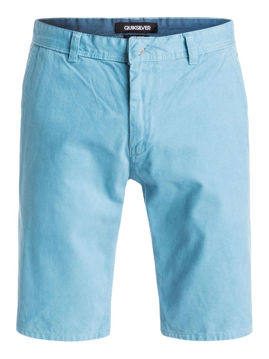Бермуды мужские Quiksilver, цвет: голубой. EQYWS03163-BKT0. Размер 29 (44/46)EQYWS03163-BKT0Стильные мужские шорты Quiksilver выполнены из натурального хлопка. Модельпрямого покроя с ширинкой на застежке-молнии на талии застегивается напуговицу, имеются шлевки для ремня. Спереди шорты дополнены двумя втачнымикарманами с косыми краями, сзади имеются два прорезных кармана с клапанами на пуговицах.