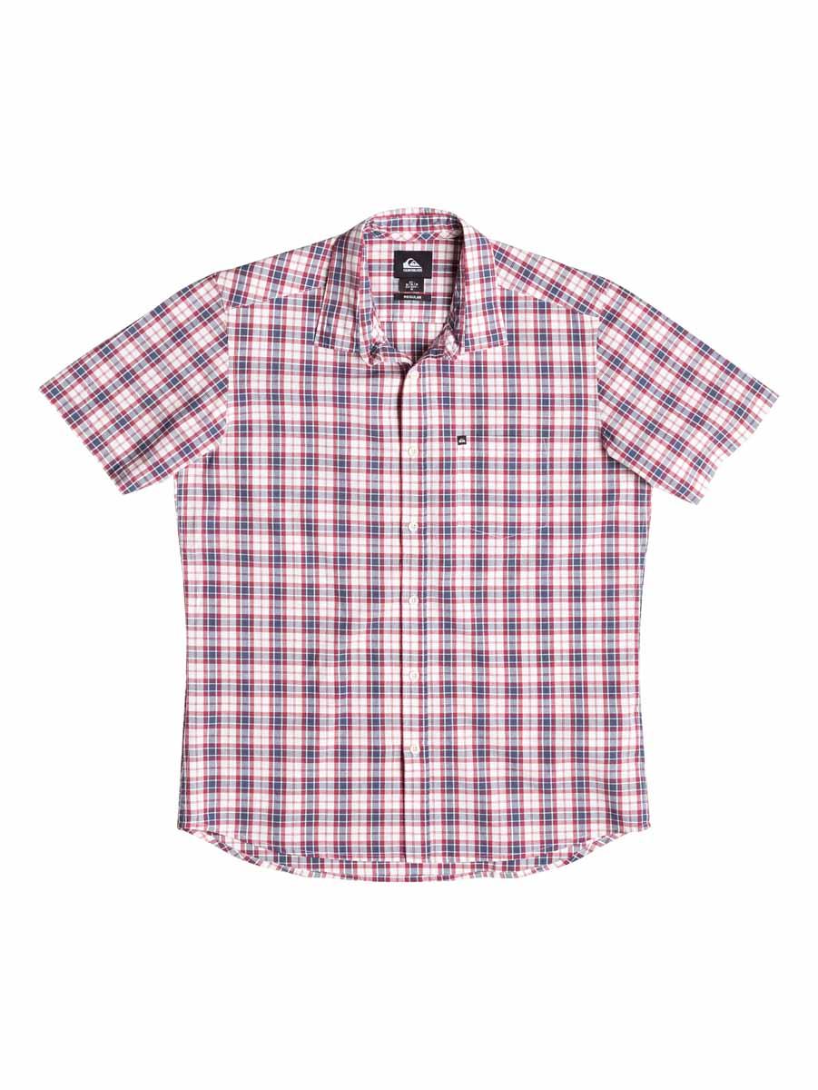 Рубашка мужская Quiksilver, цвет: белый, красный, синий. EQYWT03269-BRQ1. Размер M (46/48)