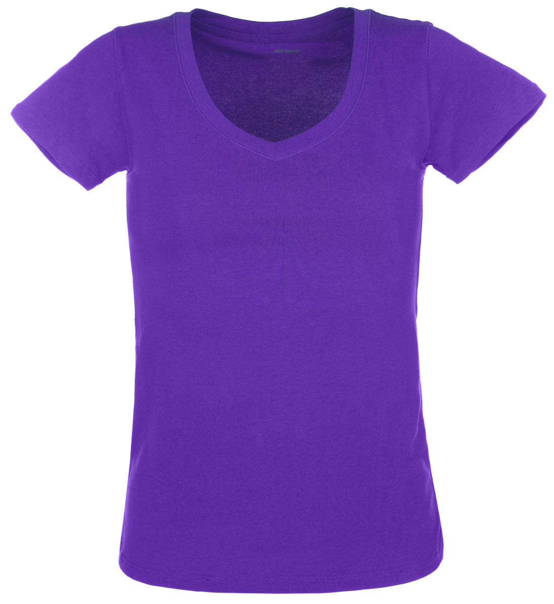 Футболка женская Alla Buone Liscio, цвет: фиолетовый. 7047. Размер L (46/48)7047Женская футболка Alla Buone Liscio, выполненная из эластичного хлопка, идеально подойдет для повседневной носки. Материал изделия мягкий, тактильно приятный, не сковывает движения и позволяет коже дышать.Футболка с V-образным вырезом горловины и короткими рукавами имеет слегка приталенный силуэт. Вырез горловины оформлен мягкой окантовочной лентой. Изделие дополнено фирменным логотипом, вшитым в боковой шов.Такая модель будет дарить вам комфорт в течение всего дня и станет отличным дополнением к вашему гардеробу.