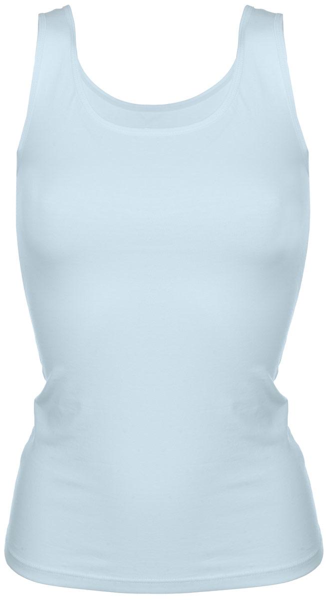 Майка женская Alla Buone Liscio, цвет: мятный. 7028. Размер L (46/48)7028Женская майка Alla Buone Liscio, выполненная из эластичного хлопка, идеально подойдет для повседневной носки. Материал изделия мягкий, тактильно приятный, не сковывает движения и позволяет коже дышать.Майка с круглым вырезом горловины и широкими бретелями имеет слегка приталенный силуэт. Вырез горловины и проймы оформлены мягкой эластичной бейкой. Изделие дополнено фирменным логотипом, вшитым в боковой шов.Такая модель будет дарить вам комфорт в течение всего дня и станет отличным дополнением к вашему гардеробу.