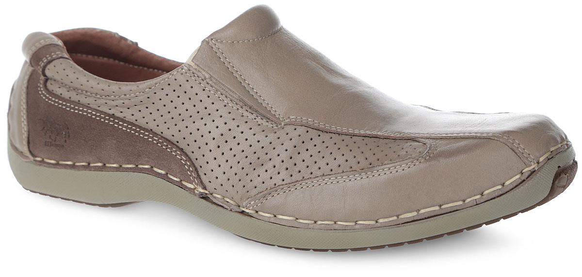 Полуботинки мужские El Tempo, цвет: бежевый, серо-коричневый. PSP11_081P_BEIGE-7235. Размер 42PSP11_081P_BEIGE-7235Оригинальные мужские полуботинки от El Tempo - отличный вариант на каждый день. Модель выполнена полностью из натуральной кожи разной фактуры. Эластичные вставки на подъеме обеспечат лучшее прилегание обуви к ноге и надежную фиксацию. Боковые стороны оформлены перфорацией, рант - светлой прострочкой, задняя часть сбоку - фирменным тиснением. Кожаная подкладка и стелька из ЭВА материала с верхним покрытием из натуральной кожи позволят ногам дышать и гарантируют комфорт. Рифленая поверхность подошвы обеспечит отличное сцепление с различными поверхностями. Стильные полуботинки - незаменимая вещь в гардеробе каждого мужчины!