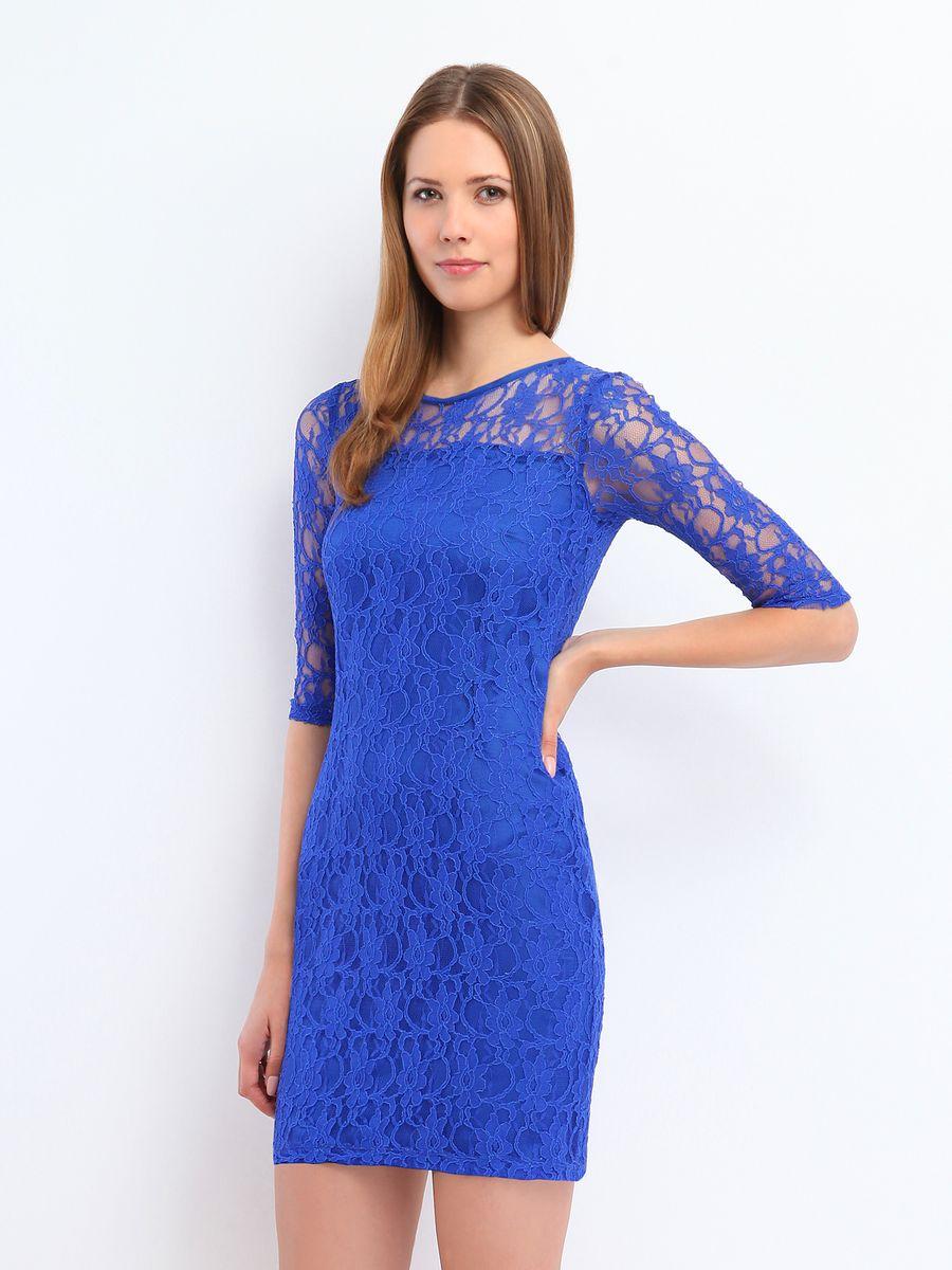 Платье Top Secret, цвет: синий. SSU1186GR. Размер 36 (42)SSU1186GRЯркое платье Top Secret подчеркнет все достоинства женской фигуры в наиболее выгодном свете. Благодаря составу, в который входит полиэстер и мягкая эластичная вискоза, платье приятное на ощупь, не сковывает движений, обеспечивая комфорт.Модель имеет круглый вырез горловины и рукава длиной 1/2. Верх платья выполнен из эффектной кружевной ткани. Такое платье станет модным и стильным дополнением к вашему гардеробу!